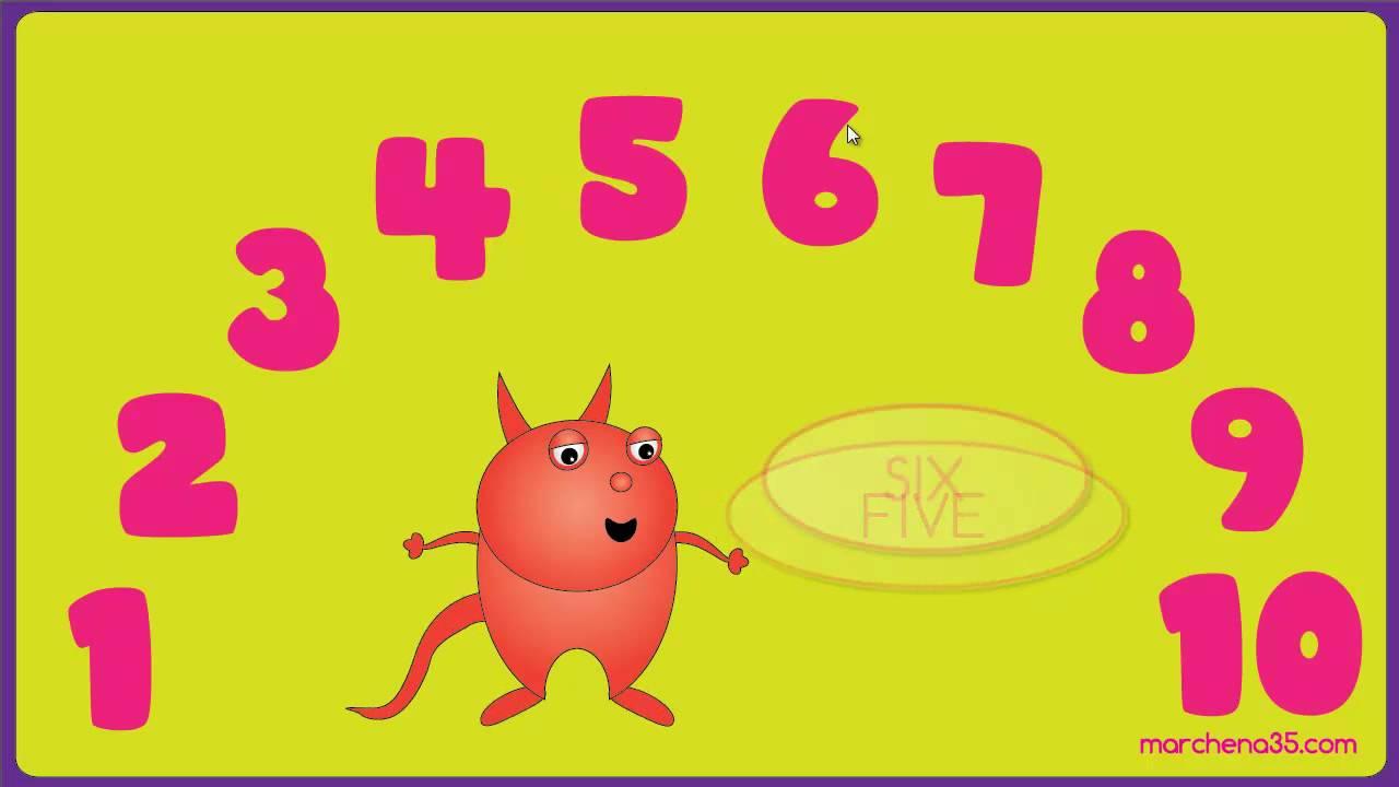 Cartas de números del 1 al
