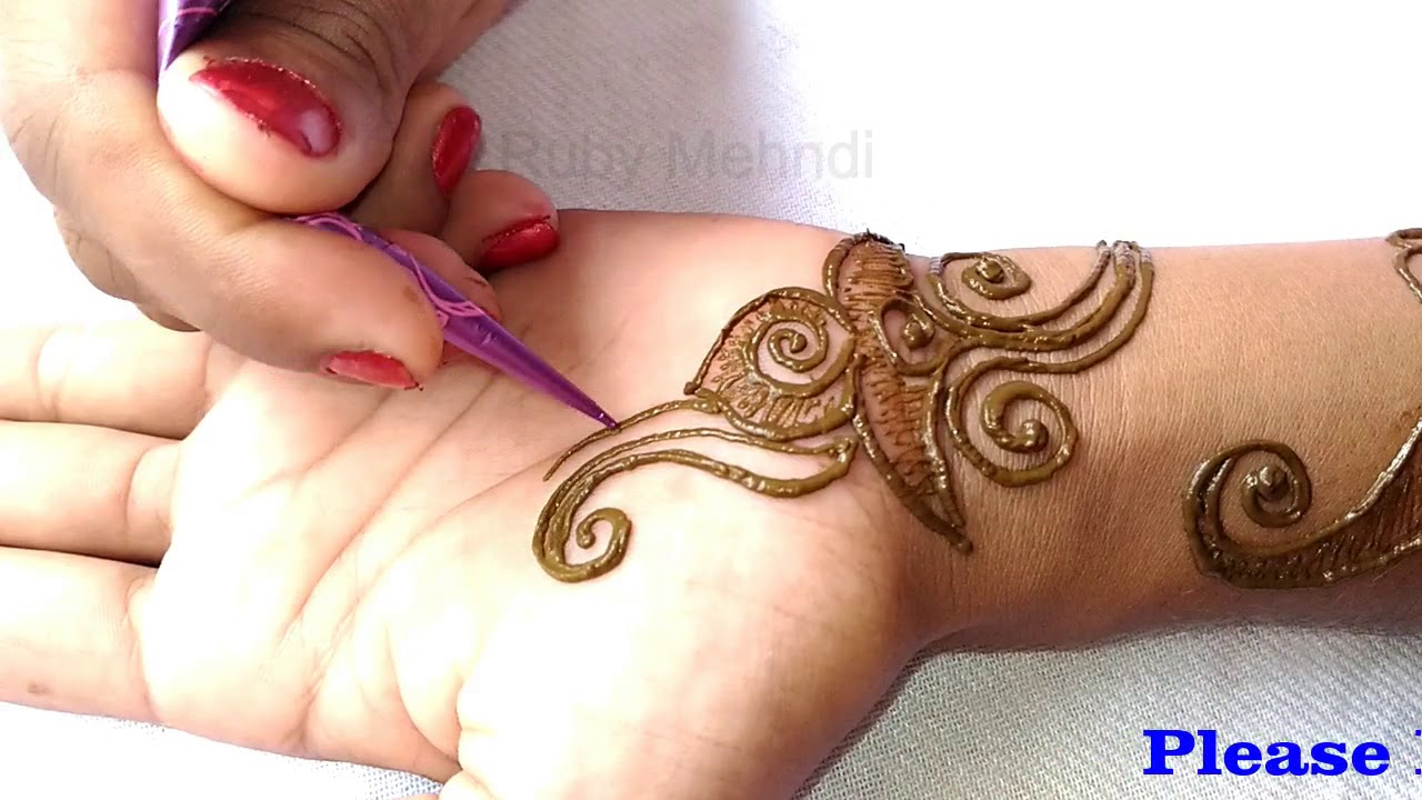 2018 New Mehndi Design For Full Hands Simple Henna Designs Step By