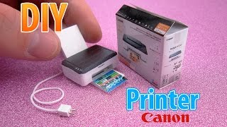 DIY Realistic Miniature Printer | DollHouse | No Polymer Clay!