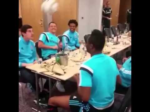 "Chelsea Players React To ""Boring Boring Chelsea"" Chant By Playing Head-Tennis At A Dinner Table"