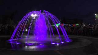 Открытие музыкального фонтана в станице Полтавской 30 апреля 2015 года