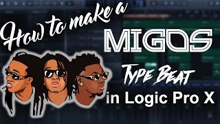 How To Make a Migos Type Beat in Logic Pro X | Beat Making Producer Tutorials