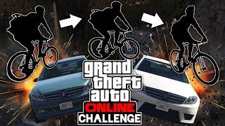 Challenge: Mit dem FAHRRAD ÜBER AUTOS SPRINGEN? 🎮 Grand Theft Auto Online #202