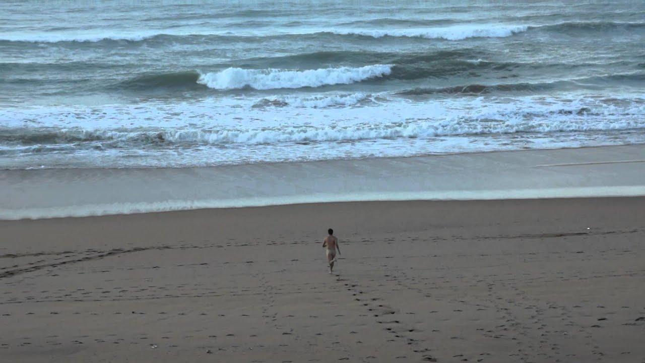 Naked Man Runs By Us On Beach - Youtube-1040
