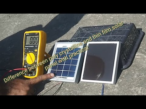 Difference between poly crystalline and thin film solar panel with practical ( in hindi ).