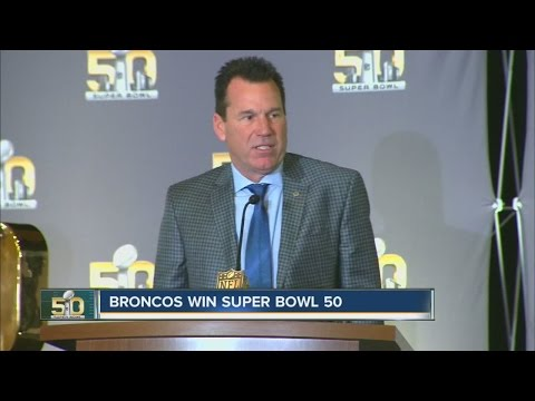 "Gary Kubiak and Von Miller hold ""day after"" Super Bowl winner"
