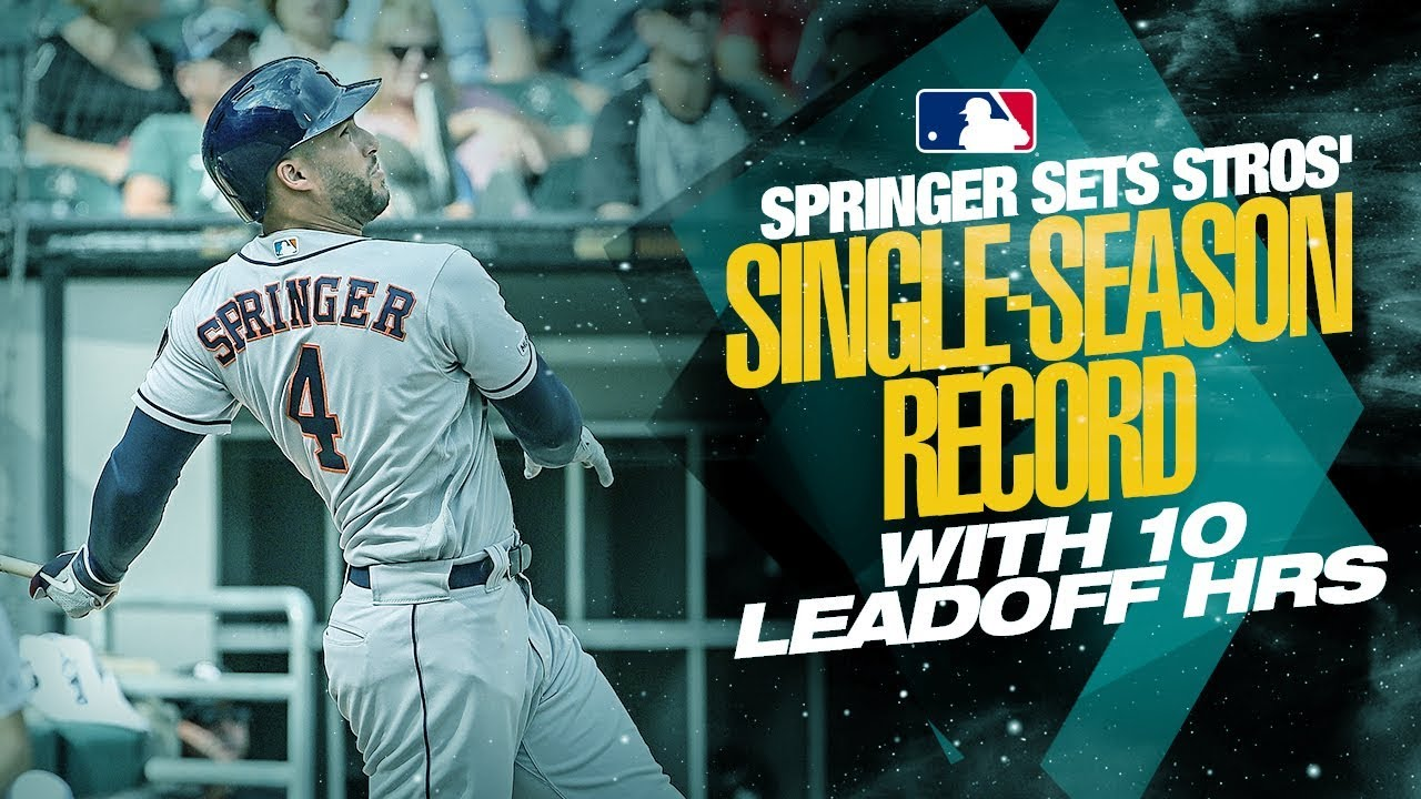 George Springer set a record with his latest World Series home run