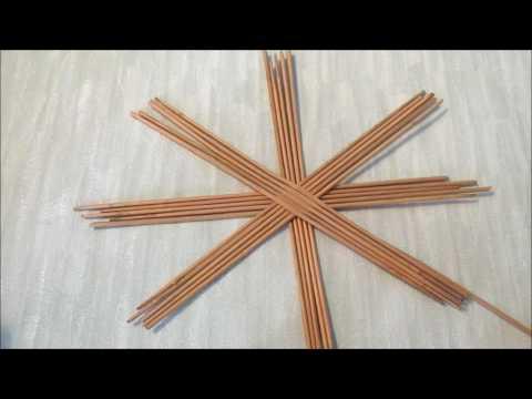 Плетение самовара из газетных трубочек. Урок 1-2.  Плетение донышка и стенок.