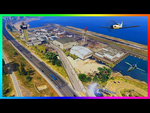 GTA 5 EXPLORING NEW AIRPORTS, MILITARY AIR BASES & PRIVATE HANGAR IN LOS SANTOS! (GTA 5 MODS)