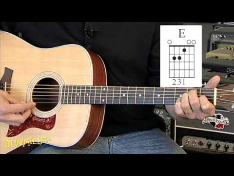 how to play basic major chords on a guitar for dummies youtube