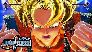 NEW JUMP Force DEMO Gameplay - Goku Transforms Super Saiyan Gameplay 1080p HD (PS4 / XBOX ONE / PC)