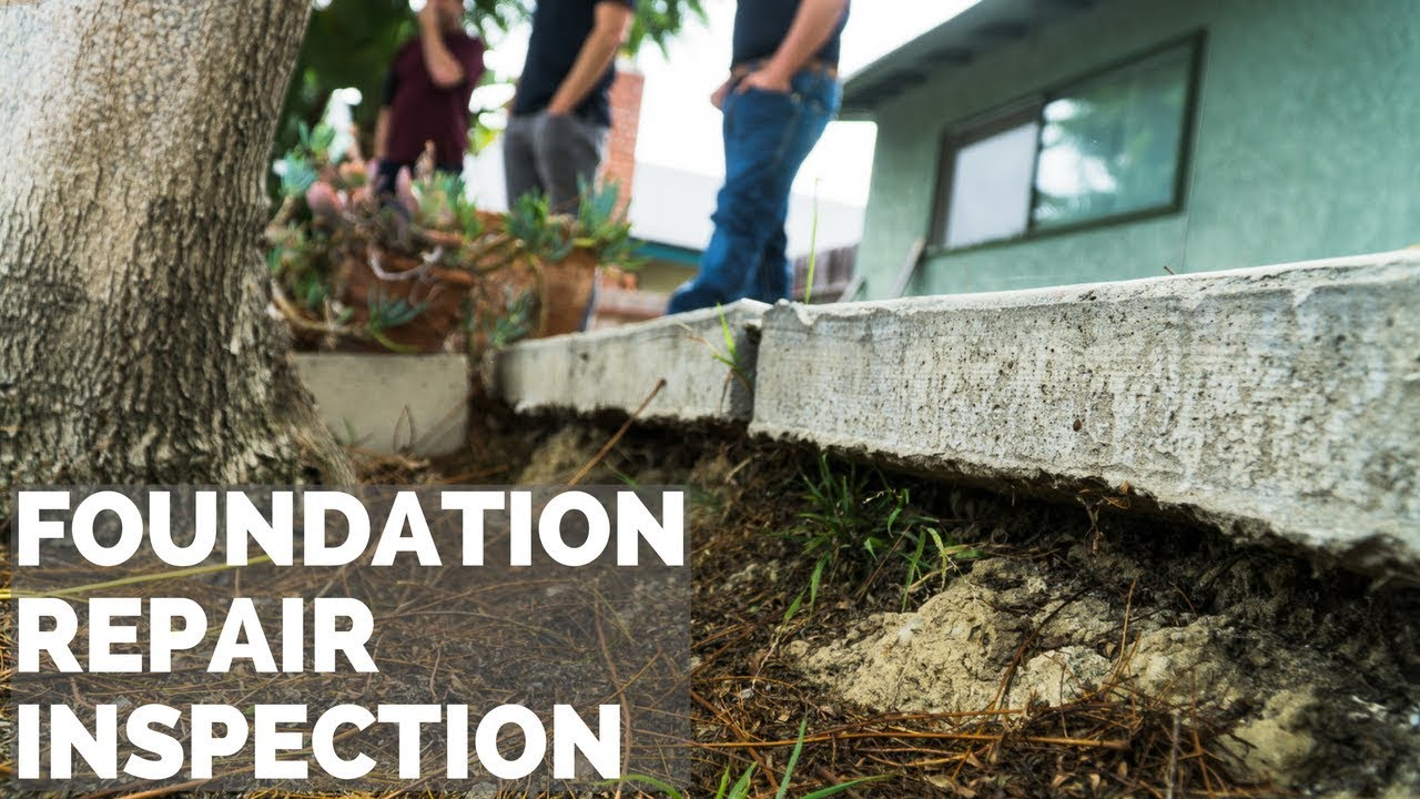 Slab Foundation Repair Inspection In