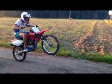 Honda CRF100 stunts and tricks