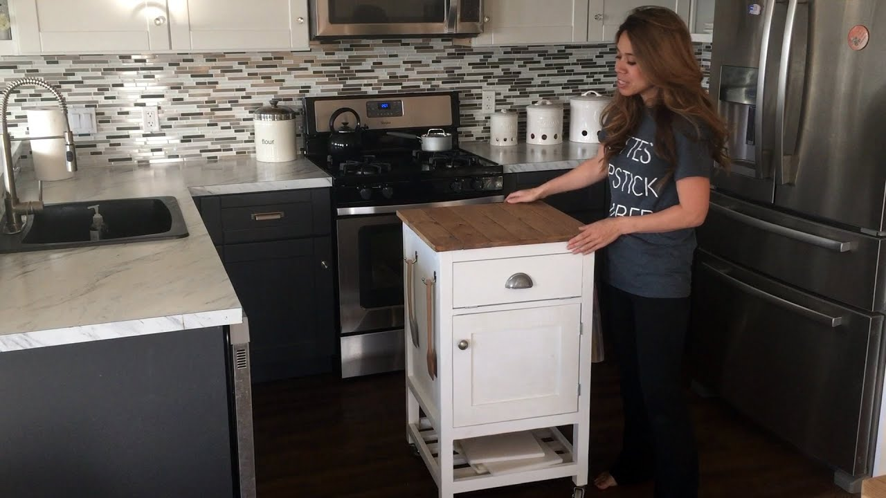 Kitchen Island Cart Diy how to build a kitchen island prep cart with ana white - youtube