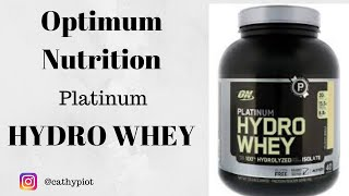 Optimum Nutrition Platinum Hydro Whey - Product Review