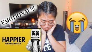 I BROKE DOWN... | REACTING TO HAPPIER - MARSHMELLO FT BASTILLE (OFFICIAL MUSIC VIDEO)