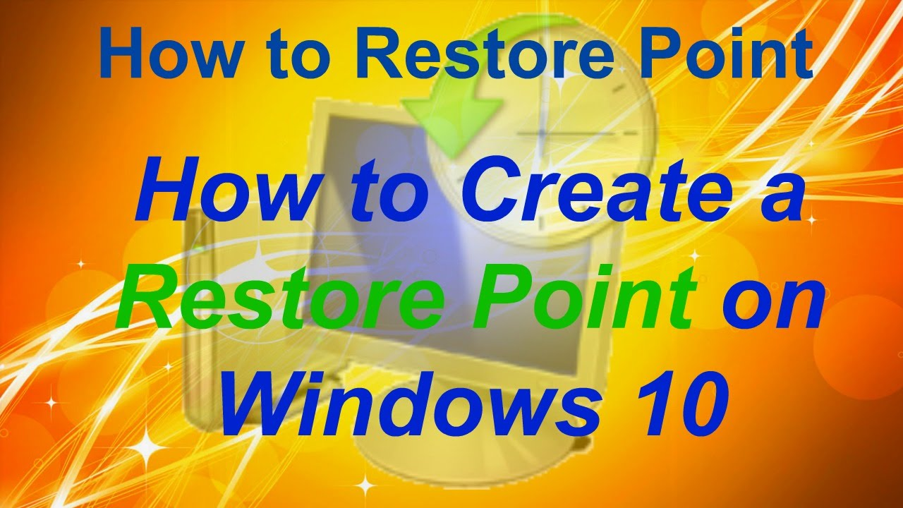 how to create restore point in windows 7 youtube