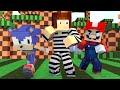 Policia e Ladrão - Desafio do Video Game (Mario Ou Sonic?) !! - Minecraft
