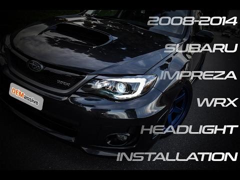 Oemassive 2008 14 Subaru Impreza Wrx Headlight Installation Youtube