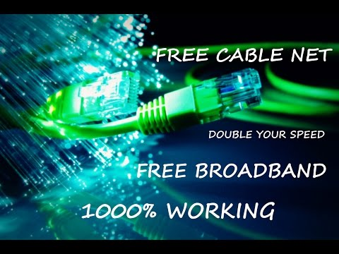 How to get free Broadband/Cable Net Any Provider