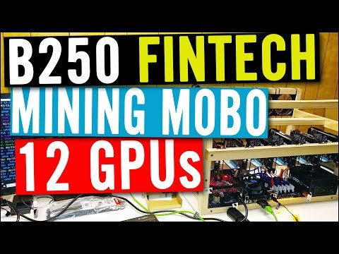 B250 FINTECH Review - 12 GPU Mining Motherboard By Gigabyte