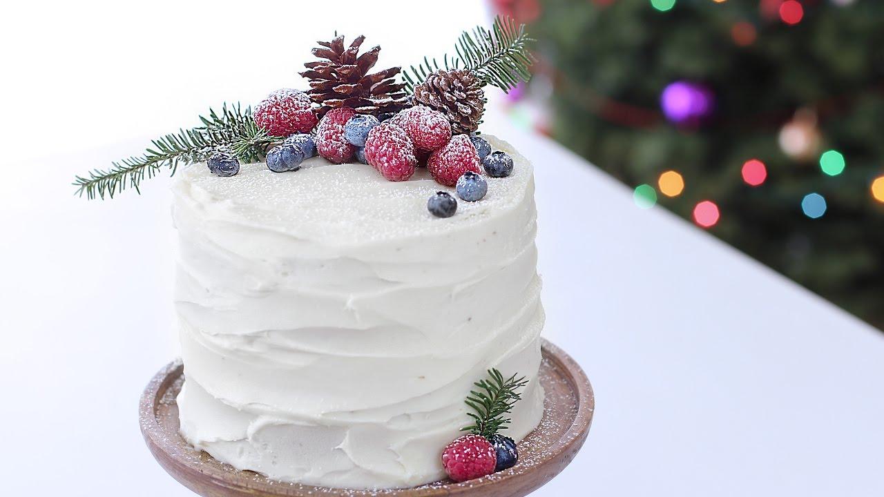 торт новогодняя сказка Бисквитный