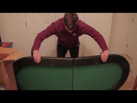 Giantex Foldable 8 Player Poker Table Unboxing/Review