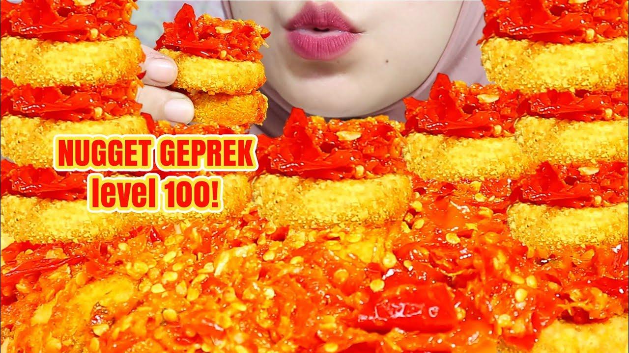 KACAU! ASMR NUGGET GEPREK LEVEL 100 SUPER PEDAS | Asmr Indonesia