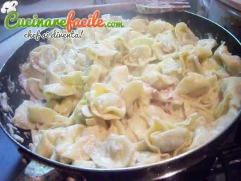 videoricetta tortellini panna e prosciutto cotto cucinare facile