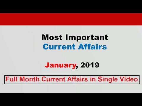 Compilation: January 2019 Current Affairs[English]