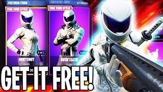 How To Get Whiteout And Overtaker Skin Free In Fortnite Battle Royale!