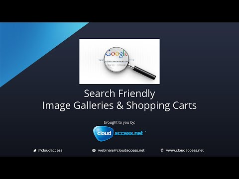 Search Friendly Image Galleries and Shopping Carts