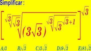 Teoría De Exponentes - Examen Admisión a la Universidad - Nivel UNI - Pregunta Resuelta-Álgebra Pre