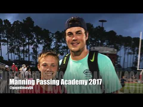 Gage at the Manning Passing Academy