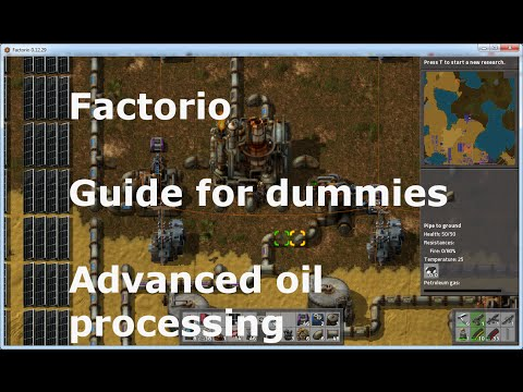 Factorio - Guide for Dummies  - Advanced Oil Processing - How to make battery, motor, lubricant