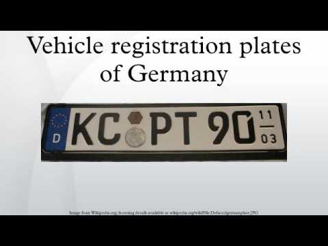 Vehicle registration plates of Germany