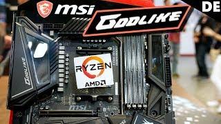 MSI X570 Tour: Debug Anschlüsse und regelbare Chipsatz Lüfter