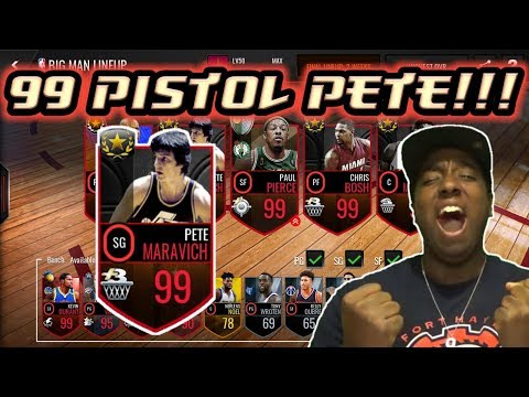 NBA LIVE MOBILE | 99 OVR ULTIMATE LEGEND PETE MARAVICH REVIEW/GAMEPLAY!!!