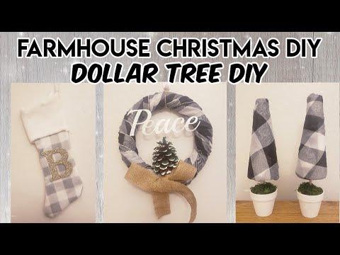 FARMHOUSE CHRISTMAS DIY / DOLLAR TREE DIY