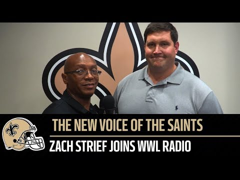 Zach Strief talks about his new role as Saints play-by-play announcer for WWL Radio