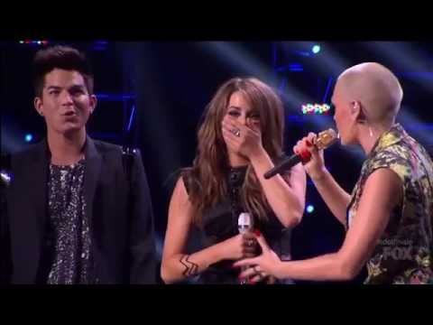 Adam Lambert: Its time to share Angie Miller + Jessie J  Domino  Finale American Idol 2013