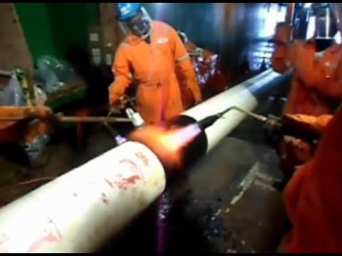 Field Joint Coating Offshore Project - Heat Shrink Sleeve GTS-PP Product Application on 3LPP Pipe