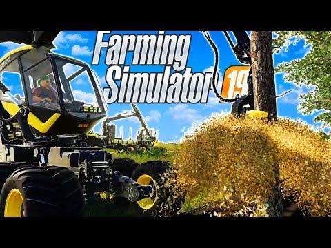 Terrible Farmers start a TREE FARM in Farming Sim?! (Farming Simulator 19 Funny Moments & Gameplay)