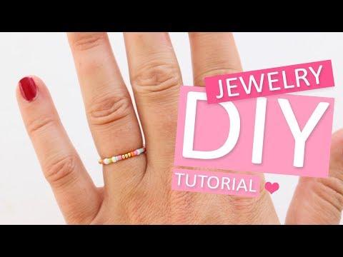DIY Tutorial: Ringe mit Miyuki rocailles - Selbst Schmuck machen