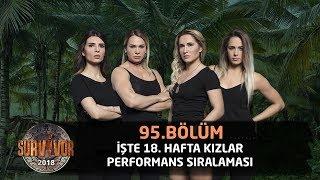 Survivor 2018 | 18. Hafta Kızlar Performans Sıralaması