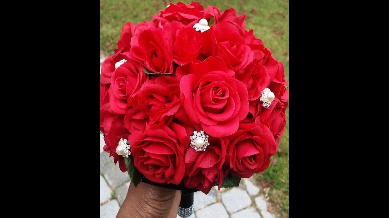 1 Diy Real Touch Roses Brooch Bouquet L Diy Kit Tutorial L Wedding