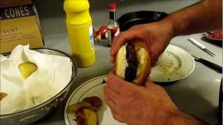 Pimento Cheese Stuffed Burgers Pig Skins And Homemade Potato Chips