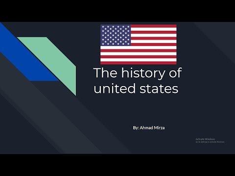 English Presentation, Story of the History of United States