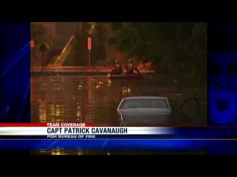 Storm Flooding Submerges Cars In East Carnegie