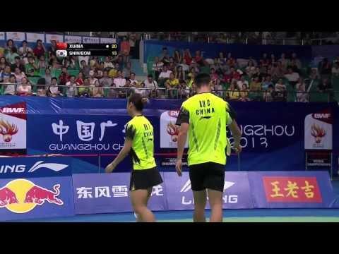 SF - XD (Highlight) - Xu C./Ma J. vs Shin B.C./Eom H.W. - 2013 BWF World Championships
